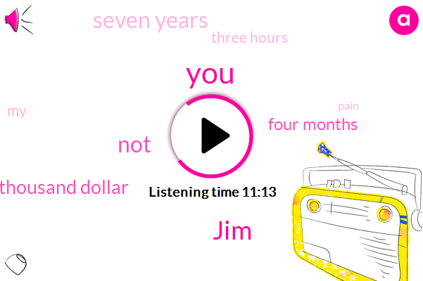 JIM,Fifty Thousand Dollar,Four Months,Seven Years,Three Hours