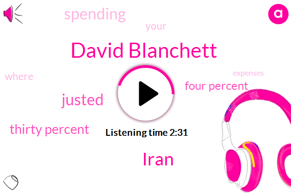 David Blanchett,Iran,Justed,Thirty Percent,Four Percent