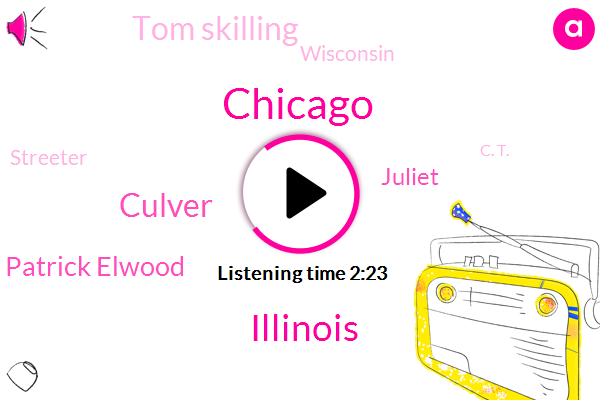 Chicago,Illinois,Culver,WGN,Patrick Elwood,Juliet,Tom Skilling,Wisconsin,Streeter,C. T.,Joliet
