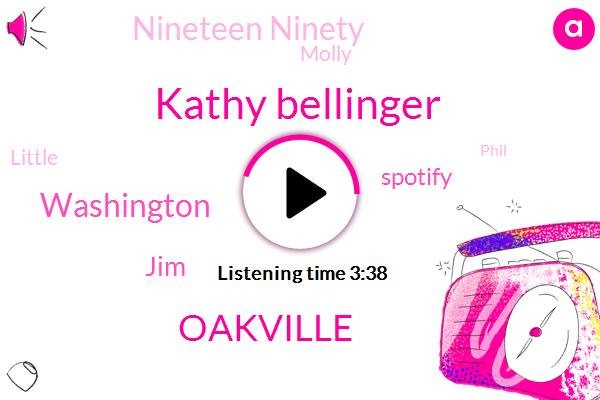 Kathy Bellinger,Oakville,Washington,JIM,Spotify,Nineteen Ninety,Molly,Little,Phil,Richard