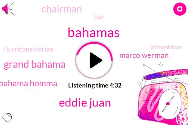 Bahamas,Eddie Juan,Grand Bahama,Grand Bahama Homma,Marco Werman,Chairman,BAZ,Hurricane Dorian,Prime Minister,Hubert Menace,Ireland,Abbott,Administrator,Eighty Percent,Twelve Year,Ten Foot,Two Days