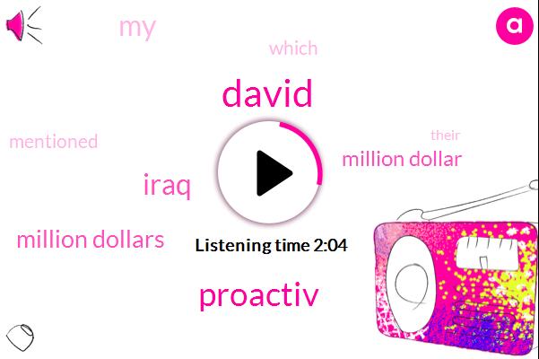 David,Proactiv,Iraq,Million Dollars,Million Dollar