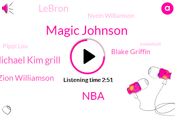 Magic Johnson,NBA,Michael Kim Grill,Zion Williamson,Blake Griffin,Lebron,Nyein Williamson,Pippi Lou,Basketball,Shannon,Ben Simmons,Lakers,Vince I,Forty Years