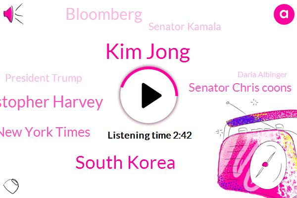 Kim Jong,South Korea,Christopher Harvey,New York Times,Senator Chris Coons,Bloomberg,Senator Kamala,President Trump,Daria Albinger,Brett Cavanaugh,Alday,Congress,California,ABC,Connor Finnegan,Delaware,Wells Fargo,Japan
