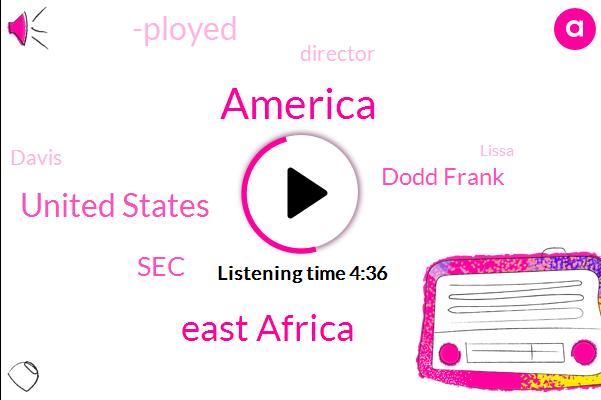 America,East Africa,United States,SEC,Dodd Frank,-Ployed,Director,Davis,Lissa,Washington,Twenty Five Thousand Dollars,Seventy Eight Percent