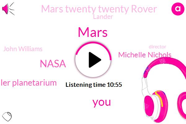 Mars,Nasa,Adler Planetarium,Michelle Nichols,Mars Twenty Twenty Rover,Lander,WGN,John Williams,Director,Nassar,Adler,Viking Landers,BEN,Interiors Lake,Newton,Marsh,Two Years
