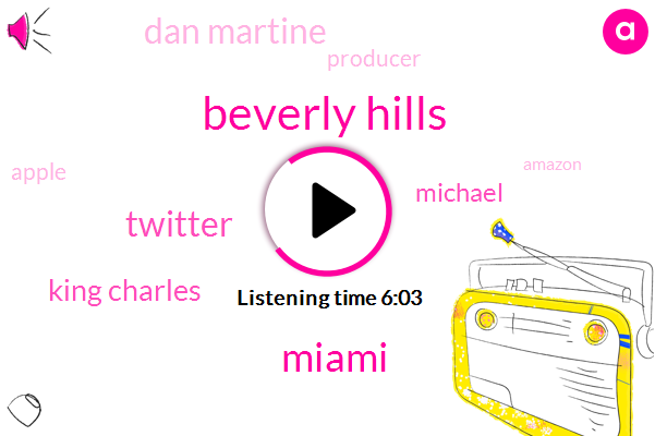 Charles,Beverly Hills,Twitter,Miami,King Charles,Michael,Dan Martine,Producer,Apple,Amazon,Two Hours