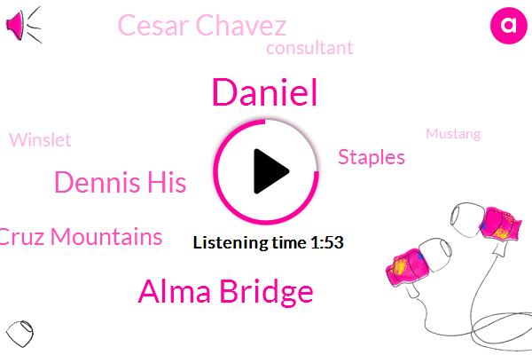 Daniel,Alma Bridge,Dennis His,Santa Cruz Mountains,Staples,Cesar Chavez,Consultant,Winslet,Mustang,Football,Savon,San Francisco,Bay Bridge,Treasure Island