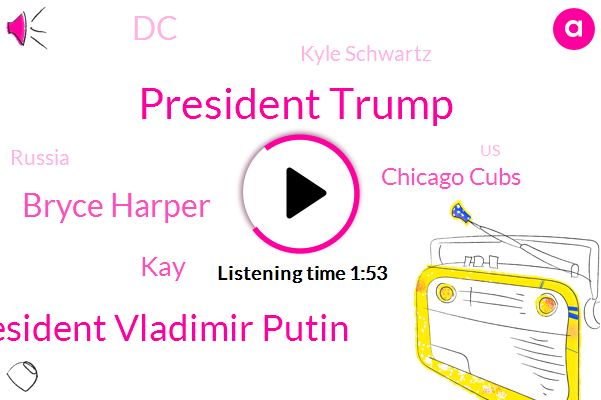 President Trump,President Vladimir Putin,Bryce Harper,KAY,Chicago Cubs,DC,Kyle Schwartz,Russia,United States