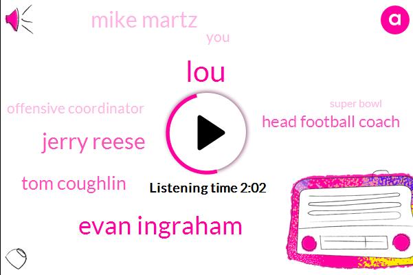LOU,Evan Ingraham,Jerry Reese,Tom Coughlin,Head Football Coach,Mike Martz,Offensive Coordinator,Super Bowl,Ingram,Giants,Odell Beckham,Brandon Marshall,One Day