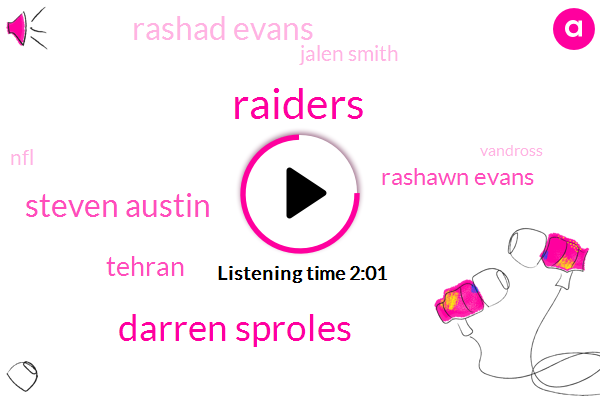Raiders,Darren Sproles,Steven Austin,Tehran,Rashawn Evans,Rashad Evans,Jalen Smith,NFL,Vandross,Kabul,Ryan Switzer,Rams,Dallas,Shaun Evans,Anthony Hitchens,Randy Gregory,Sean Lee Gregory