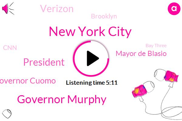 New York City,Governor Murphy,President Trump,Governor Cuomo,Mayor De Blasio,Verizon,Brooklyn,CNN,Bay Three,Staten Island,Queens Expressway,New Jersey,Modena,Juliet Papa,Greg Rice,United States,City Hall,Amanda Rhodey