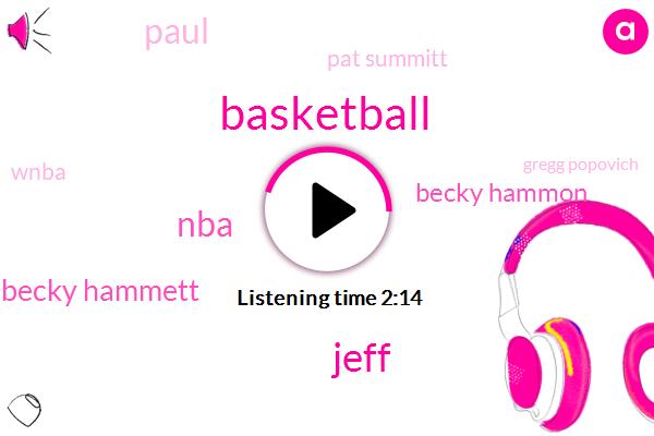Jeff,NBA,Becky Hammett,Becky Hammon,Basketball,Paul,Pat Summitt,Wnba,Gregg Popovich,Becky,Jim Oregon