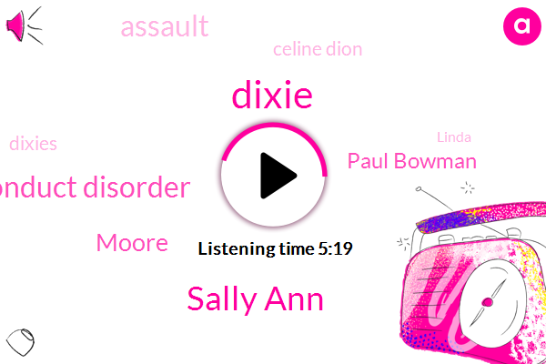 Dixie,Sally Ann,Murder,Conduct Disorder,Moore,Paul Bowman,Assault,Celine Dion,Linda,Dixies,Ramana Vander,Romano Center,ED,Robbery,Romano,Murder.,SAN