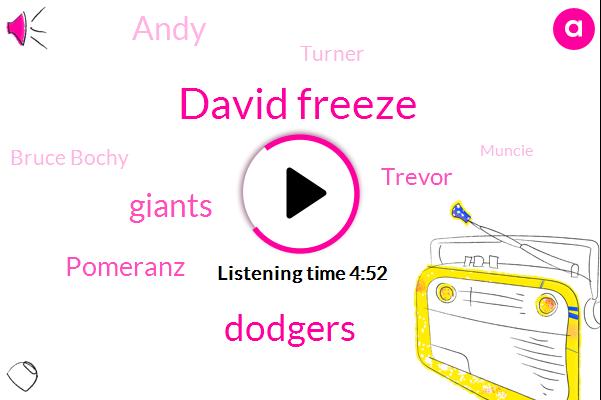 David Freeze,Giants,Pomeranz,Dodgers,Trevor,Turner,Andy,Bruce Bochy,Muncie,Caroline,Ballinger,Owen,Chevron,Pablo