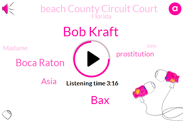 Bob Kraft,BAX,Boca Raton,Asia,Prostitution,Beach County Circuit Court,Florida,Madame,John,Hallandale,Publisher,United States,China,Hollywood