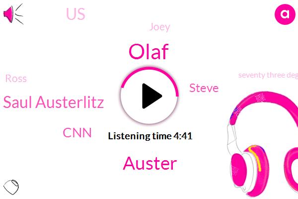 WGN,Olaf,Auster,Saul Austerlitz,CNN,United States,Steve,Joey,Ross,Seventy Three Degrees,Twenty Fifth,Three Years