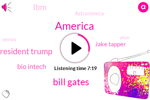 America,Bill Gates,President Trump,Bio Intech,Jake Tapper,IBM,Astrazeneca,Xerox,Pfizer,Madonna,Twitter,Johnson,Germany,Us Government,Gates,Pfizer Madonna