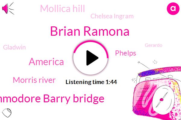 Brian Ramona,Commodore Barry Bridge,America,Morris River,Phelps,Mollica Hill,Chelsea Ingram,Gladwin,Gerardo,Nolan,Dennis,San Antonio Santa,Devon,Limerick,Twenty Four Hour