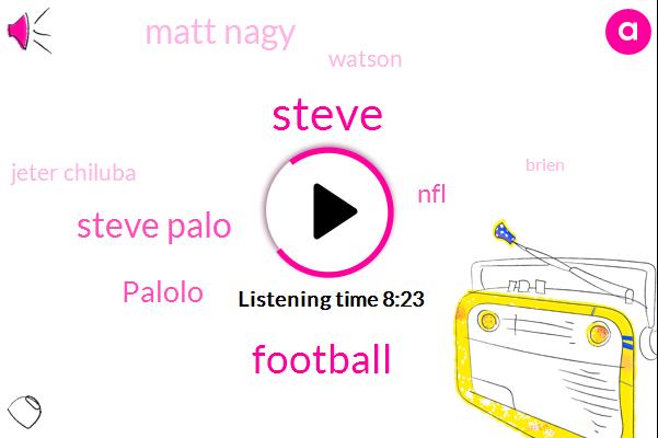 Steve Palo,Steve,Palolo,Football,NFL,Matt Nagy,Watson,Jeter Chiluba,Brien,Sean Mcvay,Hanson,Shawn,Sean,Colts,Steve Zillow,Rogers