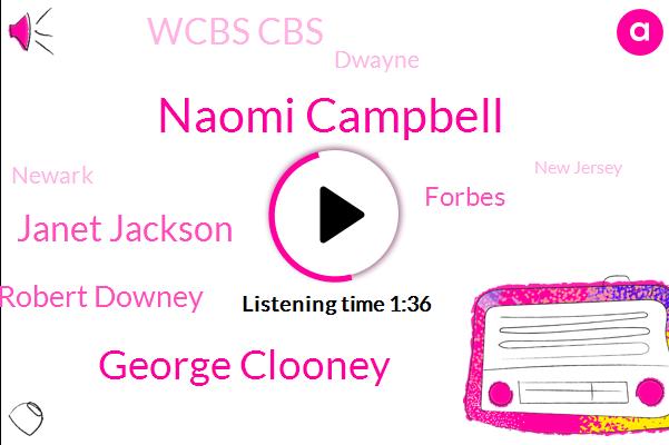 Naomi Campbell,George Clooney,Janet Jackson,Robert Downey,Forbes,Wcbs Cbs,Dwayne,Newark,New Jersey,Massachusetts,Mary J,Umass,Boston,One Hundred Twenty Four Million Dollars,Two Hundred Thirty Nine Million Dollars,Billion Dollars