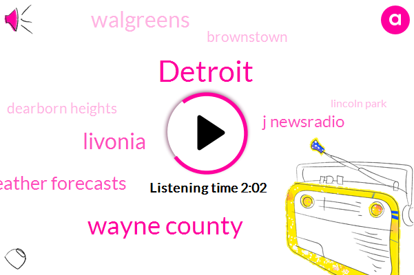 Detroit,Wayne County,Livonia,Weather Forecasts,J Newsradio,Walgreens,Brownstown,Dearborn Heights,Lincoln Park,Carl Babitsky,Accuweather,Twenty Two Degrees,24 Hour