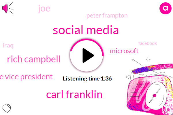Social Media,Carl Franklin,Rich Campbell,Corporate Vice President,Microsoft,JOE,Peter Frampton,Iraq,Facebook,Artificial Intelligence,Pete