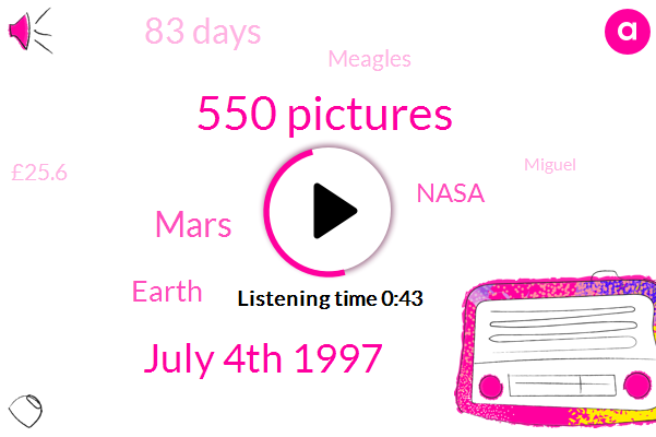 550 Pictures,July 4Th 1997,Mars,Earth,83 Days,Nasa,Meagles,£25.6,Miguel,First,Martine,Red Planet,Perseverance,Nineties,Pathfinder,Eighties,Week,JPL,Sojourner,LEE