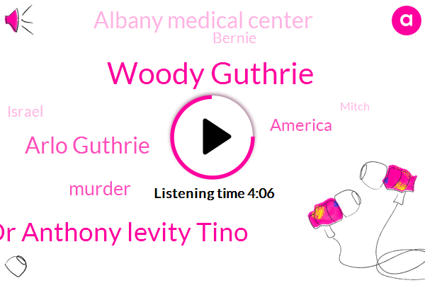 Woody Guthrie,Dr Anthony Levity Tino,Arlo Guthrie,Murder,America,Albany Medical Center,Bernie,Israel,Mitch,ROE,Santa Fe,Drew,Director,California,New Mexico,Doctor Levin,Professor,Michael,Dayton,Wade