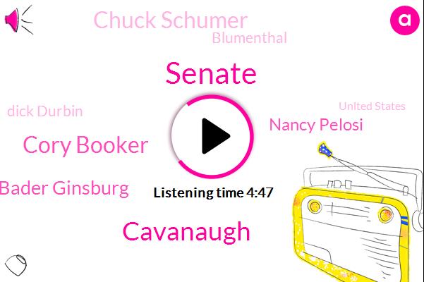 Senate,Cavanaugh,Cory Booker,Ruth Bader Ginsburg,Nancy Pelosi,Chuck Schumer,Blumenthal,Dick Durbin,United States,FBI,Senator Kamala Arana,Coons,Donald Trump,Anthony Kennedy,Kamala Harris,Basketball,Hillary Clinton,Elizabeth Warren