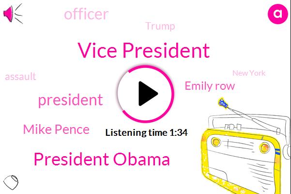 Vice President,President Obama,President Trump,Mike Pence,ABC,Emily Row,Officer,Donald Trump,Assault,New York,Amber Geiger,Washington,Dallas,Les Moonves,New York Times,Harassment,Deborah,Gibson