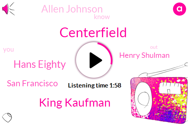 Centerfield,King Kaufman,Hans Eighty,San Francisco,Henry Shulman,Allen Johnson