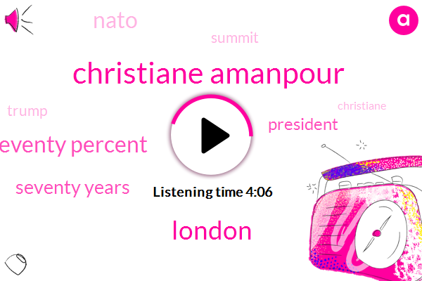 Christiane Amanpour,London,Seventy Percent,Seventy Years