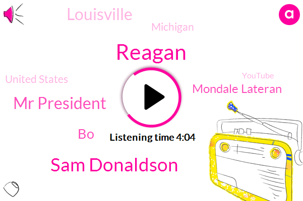 Reagan,Sam Donaldson,Mr President,BO,Mondale Lateran,Louisville,Michigan,United States,Youtube,O'neill,Chief White House Correspondent,ABC,Reagans,Shakespeare,Clinton,Steve,Three Percent