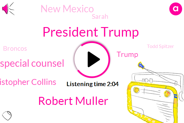 ABC,President Trump,Robert Muller,Special Counsel,Christopher Collins,Donald Trump,New Mexico,Sarah,Broncos,Todd Spitzer,Cantu,Clark,Jonathan Karl,New York,Orange County,United States,Arson