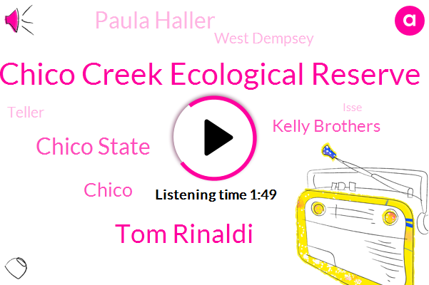 Chico Creek Ecological Reserve,Tom Rinaldi,Chico State,Chico,Kelly Brothers,Paula Haller,West Dempsey,Teller,Isse,Phyllis,Professor,Sacramento
