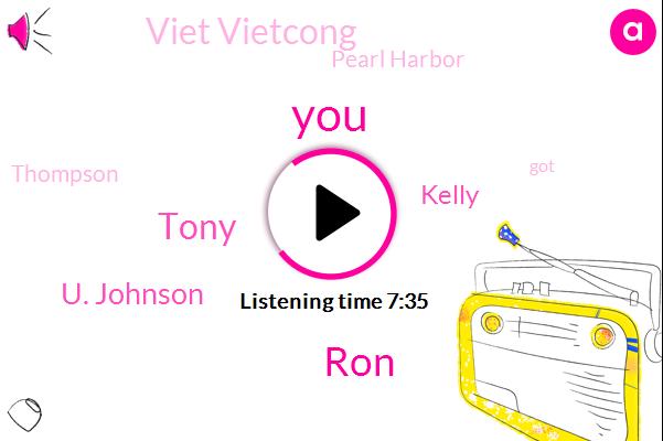 RON,Tony,U. Johnson,Kelly,Viet Vietcong,Pearl Harbor,Thompson,Calley,Twenty Twenty,Dave,Forty Five Fifty Years,Ten Minutes