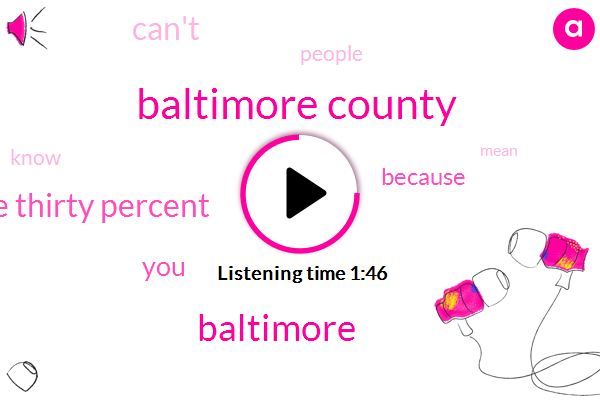Baltimore County,Baltimore,One Thirty Percent
