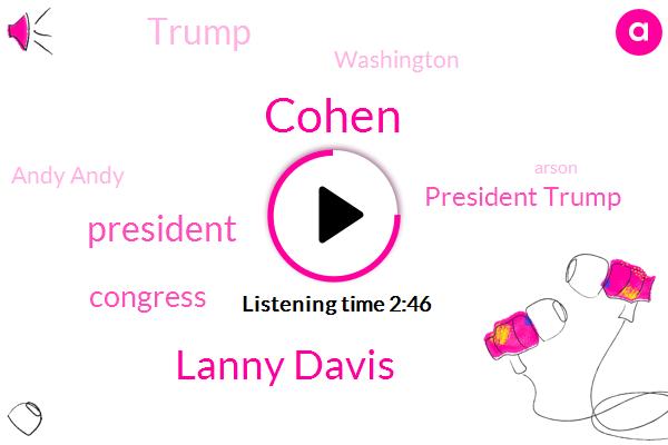 Cohen,Lanny Davis,President Trump,Congress,Donald Trump,Washington,Andy Andy,Arson,Brad Kavanagh,Elizabeth Warren,John Cornyn,Cavanaugh,ABC,Agriculture Department,China,Senator,Michael,Thompson
