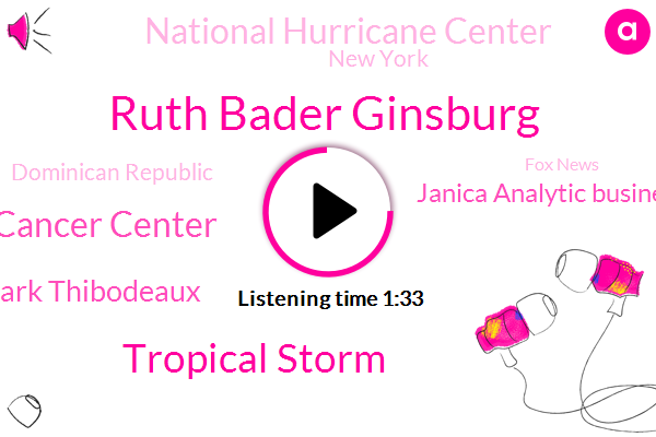 Ruth Bader Ginsburg,Tropical Storm,Memorial Sloan Kettering Cancer Center,Mark Thibodeaux,Janica Analytic Business Solutions,National Hurricane Center,New York,Dominican Republic,Fox News,South Florida,Sean,Haiti,America,Atlantic