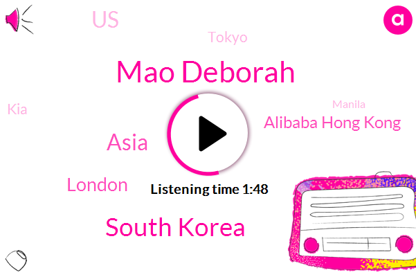 Mao Deborah,South Korea,Asia,London,Alibaba Hong Kong,United States,Tokyo,KIA,Manila,Victor Lee,Bloomberg,S Prime Holdings,Tracy,UK,Brexit,One Hundred Thirty Five Million Dollars,Sixty Five Thousand Square Meter
