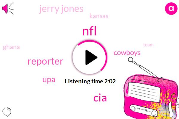 NFL,CIA,Reporter,UPA,Cowboys,Jerry Jones,Kansas,Ghana
