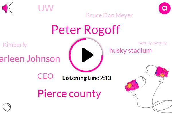 Komo,Peter Rogoff,Pierce County,Carleen Johnson,CEO,Husky Stadium,UW,Bruce Dan Meyer,Kimberly,Twenty Twenty,Executive,Three Hundred Twenty Nine Thousand Dollars