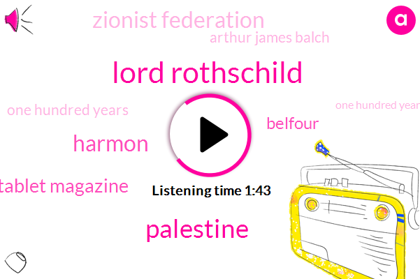 Lord Rothschild,Palestine,Harmon,Tablet Magazine,Belfour,Israel,Zionist Federation,Arthur James Balch,One Hundred Years,One Hundred Year