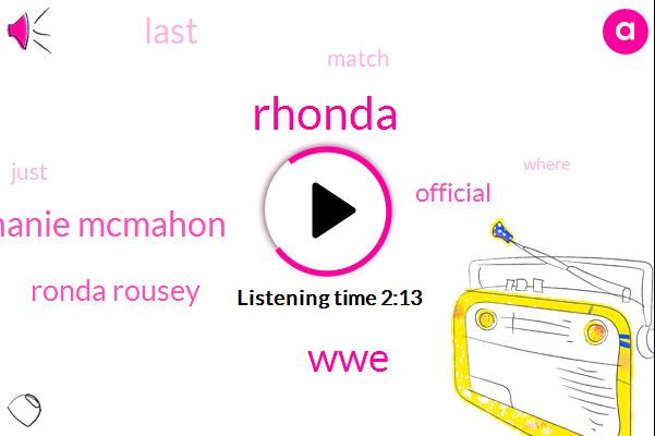 Rhonda,WWE,Stephanie Mcmahon,Ronda Rousey,Official