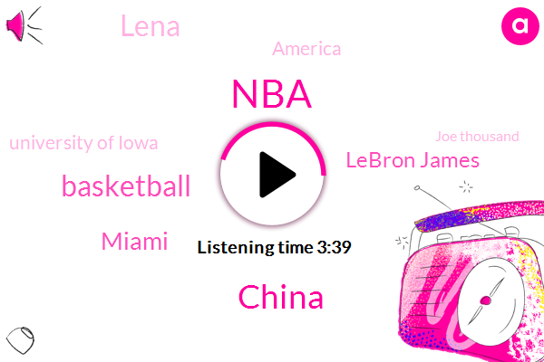 NBA,China,Basketball,Miami,Lebron James,Lena,America,University Of Iowa,Joe Thousand,Seino