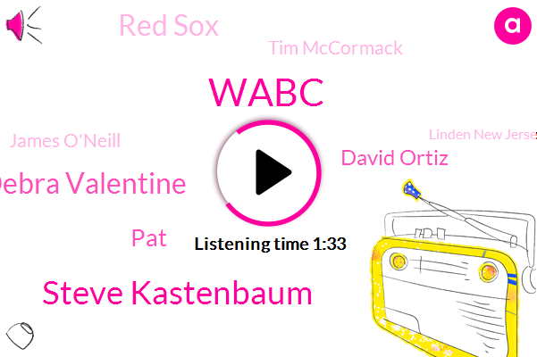 Wabc,Steve Kastenbaum,Debra Valentine,PAT,David Ortiz,Red Sox,Tim Mccormack,James O'neill,Linden New Jersey,Nathan,New York,Manhattan,Boston,Instructor,Clinton,One Thousand Foot,Eleven Minutes,Ten Minutes