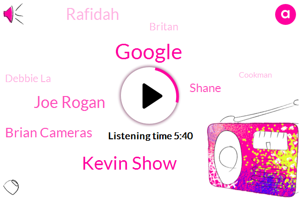 Google,Kevin Show,Joe Rogan,Brian Cameras,Shane,Rafidah,Britan,Debbie La,Cookman,Cartman,France