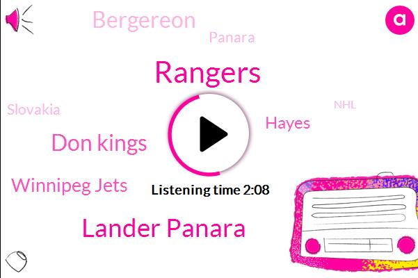 Rangers,Lander Panara,Don Kings,Winnipeg Jets,Hayes,Bergereon,Panara,Slovakia,NHL,Alex,Hank,TIM,Hockey,Three Years