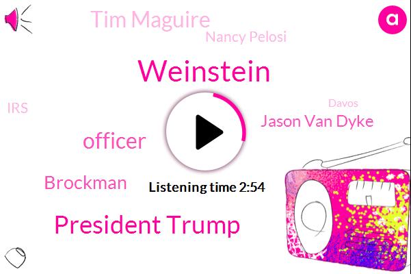 Weinstein,President Trump,Officer,Brockman,Jason Van Dyke,AP,Tim Maguire,Nancy Pelosi,IRS,Davos,Jonathan Lemaire,Martin Hunter Mcdonald,Warren Levinson,Liqun Mcdonald,Dominique Strauss-Kahn,Casey Tv,Shannon Ls,Switzerland,Mcdonald